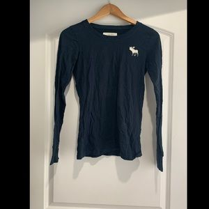 ABERCROMBIE& FITCH LONG SLEEVE COTTON T SIZE MED